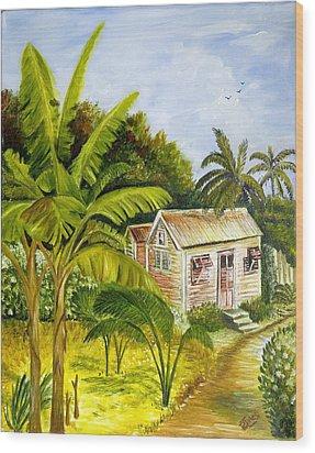 Tropical Haven Wood Print
