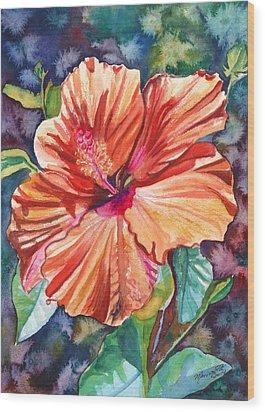 Tropical Hibiscus 5 Wood Print