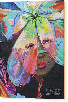 Tropical Wood Print by Jodie Marie Anne Richardson Traugott          aka jm-ART
