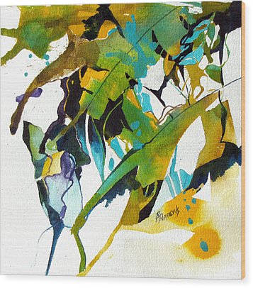 Tropical Leaf Fantasy Wood Print by Rae Andrews