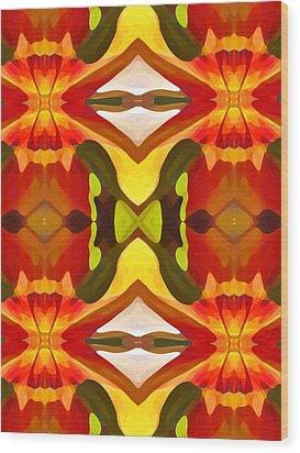 Tropical Leaf Pattern  11 Wood Print by Amy Vangsgard