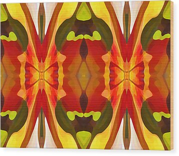 Tropical Leaf Pattern 13 Wood Print by Amy Vangsgard