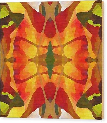Tropical Leaf Pattern5 Wood Print by Amy Vangsgard