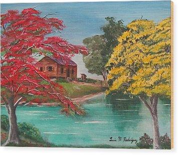 Tropical Lifestyle Wood Print