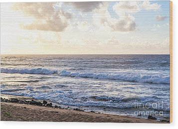 Wood Print featuring the photograph Tropical Morning  by Roselynne Broussard