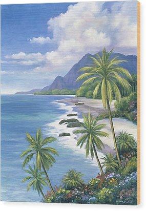 Tropical Paradise 2 Wood Print by John Zaccheo