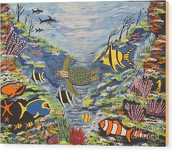 Tropical Paradise Wood Print by Jeffrey Koss