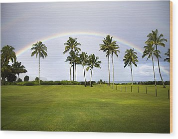 Tropical Rainbow Wood Print by Saya Studios
