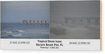 Tropical Storm Isaac Difference In A Day Wood Print by Jeff at JSJ Photography