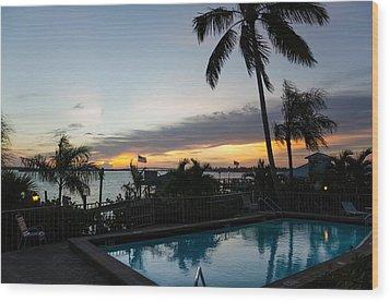 Tropical Sunrise Wood Print
