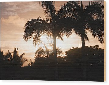Tropical Sunrise Wood Print by Mustafa Abdullah