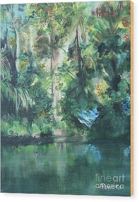 Wood Print featuring the painting Tropical Treasure by Mary Lynne Powers