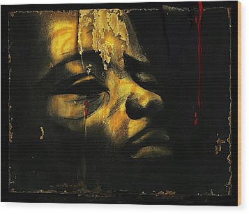 Troubled  Africa Wood Print by Hartmut Jager