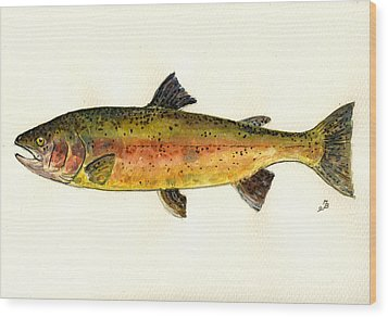 Trout Fish Wood Print by Juan  Bosco