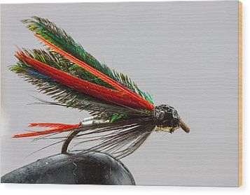 Trout Fly  Wood Print by Craig Lapsley