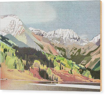 Trout Lake Colorado Wood Print by Dan Miller