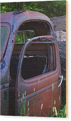 Truck And  Door Wood Print by Randy Pollard