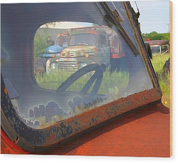 Wood Print featuring the photograph Truck Glass by Christopher McKenzie