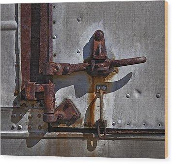 Truck Handle Wood Print by Murray Bloom