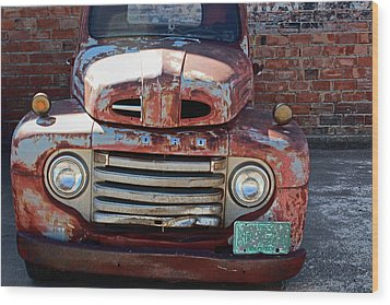 Wood Print featuring the photograph Ford In Goodland by Lynn Sprowl