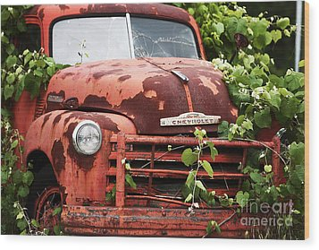 Truck Wood Print by John Rizzuto