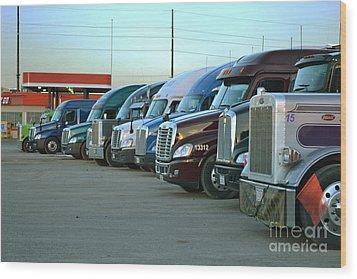 Truck Stop Wood Print