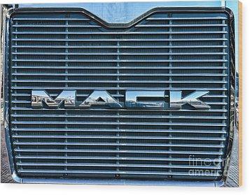 Truck - The Mack Grill Wood Print by Paul Ward