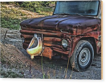 Truck With Benefits Wood Print by Ron Roberts