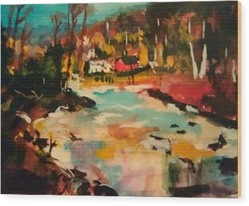 Truckee River Impression Wood Print