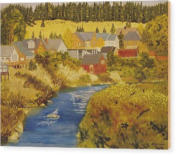 Truckee River - Truckee Ca Wood Print by Mike Caitham