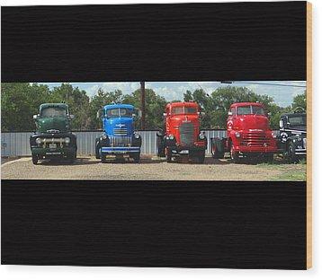 Truckin Wood Print by Tom DiFrancesca