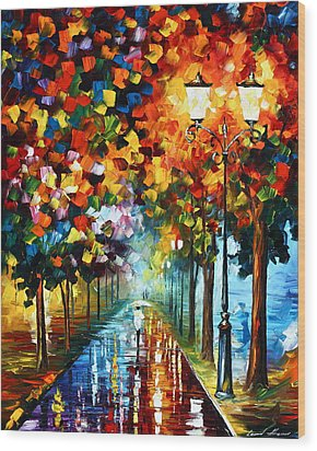 True Colors Wood Print by Leonid Afremov