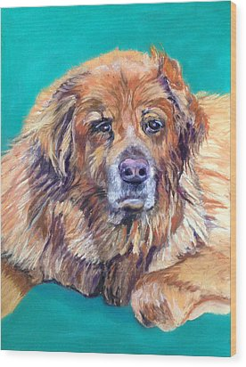 Wood Print featuring the pastel True Companion by Julie Maas