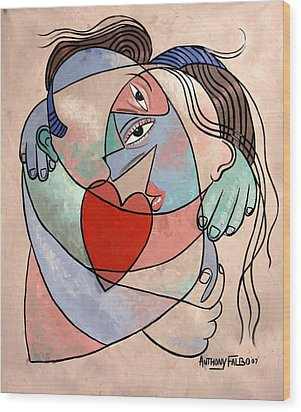 True Love When Two Become One Wood Print by Anthony Falbo