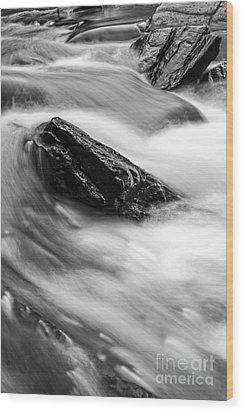 True's Brook Gorge Water Fall Wood Print by Edward Fielding