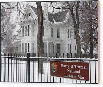 Truman Home Winter 2007 Wood Print