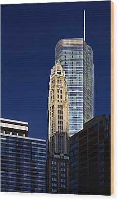 Trump International Hotel And Tower Chicago Wood Print by Christine Till