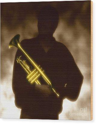 Trumpet 1 Wood Print