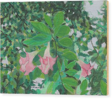 Trumpet Flower Tree Wood Print