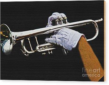 Trumpet Wood Print by Tom Gari Gallery-Three-Photography