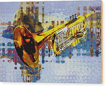Trumpet Wood Print by Jack Zulli