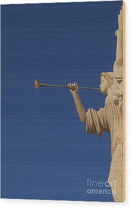 Trumpeter  Wood Print by First Star Art