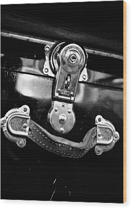 Wood Print featuring the photograph Trunk Latch by Adria Trail