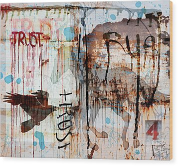 Trust Me Wood Print by Judy Wood