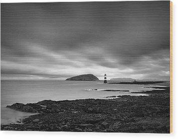 Trwyn Du Lighthouse 1 Wood Print