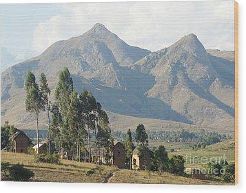 Tsaranoro Mountains Madagascar 1 Wood Print by Rudi Prott