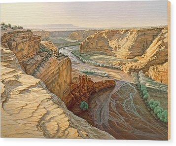 Tsegi Overlook - Canyon De Chelly Wood Print by Paul Krapf