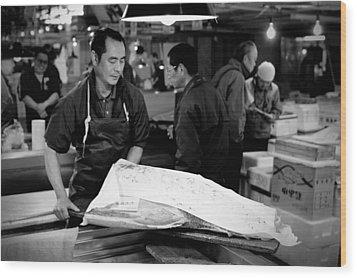 Tsukiji Tokyo Fish Market Wood Print by Sebastian Musial