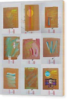 Tsunami Quilt Wood Print by Charles Stuart