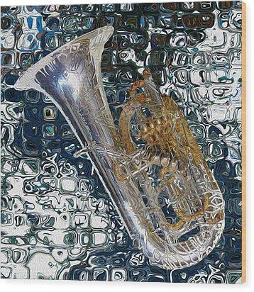 Tuba Wood Print by Jack Zulli